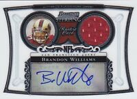 BRANDON WILLIAMS RC 2006 BOWMAN STERLING JERSEY AUTO #BSBW FB4228