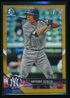 ANTHONY SEIGLER 2018 Bowman Draft Chrome GOLD REFRACTOR #/50 Yankees Rookie RC