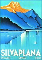 Switzerland Silvaplana 1934 Engadin Vintage Poster Print Retro Art Travel