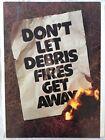 Vintage Smokey Bear Poster 1978 Forest Debris Fire🔥Prevention - Fighter Smoke