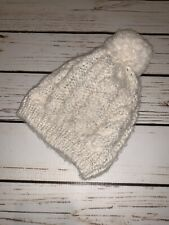 Infant White and Silver Winter Hat