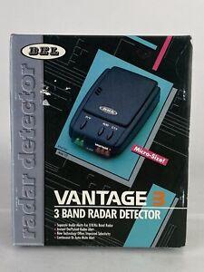 BEL Vantage 3 Micro size 3 Band Radar Detector with box visor clip and power