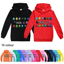 New Among Us Kids Hoodies Boys Girls Impostor Hooded Sweatshirt Jumpers Top Gift