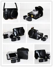 black camera leather case bag for Panasonic DMC-GF7 GF7KP/KK 12-32mm kit lens S