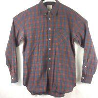 BILLY REID Mens Red & Blue Plaid Standard Cut Button Up L/S Shirt XLarge XL