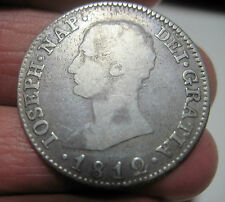 1812 S.L.A (SPAIN) 4 REALES (SILVER) Sevilla (NAPOLEON ) -- VERY very RARE----