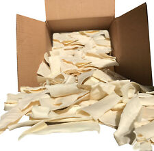 Quality Large Rawhide Chips Bulk - 6 lbs - Natural Dog Chews by 123 Treats