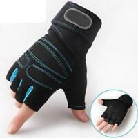 Gym Gloves Weight Lifting Training Leather Finger Half Cycling Fitness Accessory