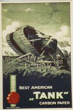 "Original Plakat - Carbon Paper - Best American ""Tank"""