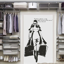 Wall Decal Sticker fashion Coco Chanel quote phrase shop showcase cupboard I37