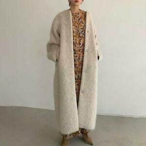 Womens Korean Fashion Oversize Loose Long Trench Outwear Casual Maxi Overcoat