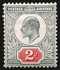 Great Britain Stamp 1902-11 2d King Edward VII Scott # 130 MINT OG LH-H