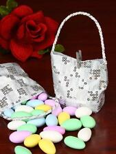 12 Silver Sequin Favour Bag for All Occasions, Anniversaries. Baby shower.Bridal