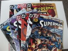 """SUPERMAN V.2 #204 - #215 """"FOR TOMORROW"""" Complete 12 Issue Run AZZARELLO JIM LEE"""