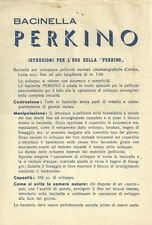 Bacinella Perkino Istruzioni per l'Uso 1960 c.a