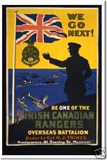 WWI Era  POSTER - Be One of the Irish Canadian Rangers