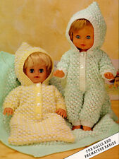 "Doll Baby Premature/Reborn 12"" - 20"" Sleeping Bag- Blanket- DK  To Knit"