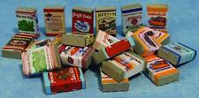 Dolls House 24 X Groceries 1/12th Scale Miniatures