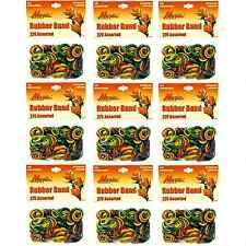Hair Rubber Bands 2475 pcs (9 bags x 275/ea) Magic Brand Multi-Color_61-020x9