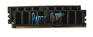 2GB 2 X 1GB PC2700 DDR 333MHz CL2.5 Non ECC DIMM Desktop Memory RAM