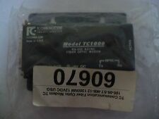 TC Communication 100-05-ST-MB-12 Fiber Optic Modem, Used