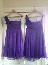 Purple Formal Short Ballgown Silk Dress Baby Doll Size 10 & 12