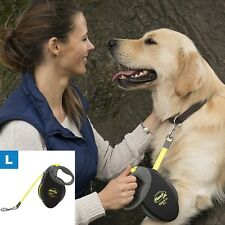 Giant Retractable Dog Safety Lead Neon Leash Training Obedience Large 50Kg 10M