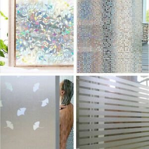 Premium Frosted Film Glass Home Bathroom Window Security Privacy Sticker