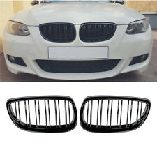 06-09 For BMW  E92 E93 Coupe M3 Gloss Black Front Kidney Twin Fins Grill Grille