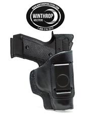 "CZ 2075 RAMI 3.05"" Barrel IWB Shield Single Clip Leather Holster R/H Black"