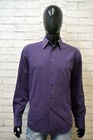 HUGO BOSS Camicia a Righe Uomo Taglia 40 M Maglia Camicetta Chemise Shirt Man