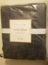 Pottery Barn Teen True Blue Twin Denim Duvet Cover M-Date: 05/2020 New & Sealed