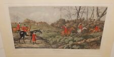 "THOMAS SUTHERLAND ""BREAKING COVER"" AFTER HENRY ALKEN ORIGINAL COLORD ENGRAVING"