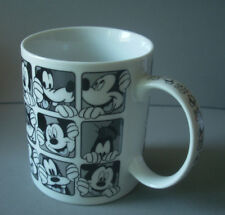 Disney Mickey Mouse Goofy Black and White Ceramic Coffee Mug