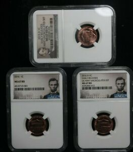 2015-D, 2016-D, & 2016 1C  Lincoln ER US MINT UNCIRCULATED NGC MS67RD  MS67RD PL
