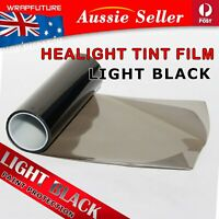 Light Black Cars Headlight Tint Film Taillight Fog Lamp Vinyl Wrap Decal 30CMx1M