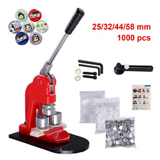 25/32/44/58mm Button Maker Badge Punch Press Machine +1000pcs components buttons