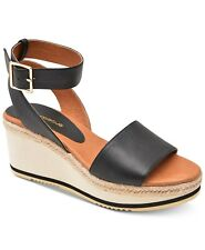 W416 Andre Black Women's Assous Petra Wedge Sandals 6.5