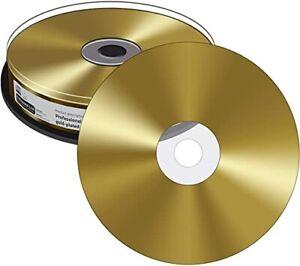10 MediaRange MRPL510 Archival Grade CD Blank CD-R 700MB Gold plated discs