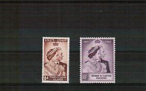 Turks & Caicos 1948 Silver Wedding set Unmounted Mint