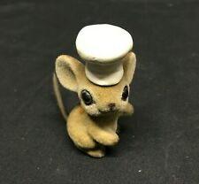 Vintage Josef Originals Fuzzy Mouse with Chef / Baker Hat Made in Japan