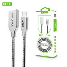 GOLF Durable Zinc Alloy Android USB High Speed Quick Fast Charge Sync Data Cable