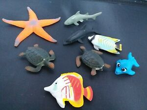 Sea Creature Figure Bundle Children's Toy x 8