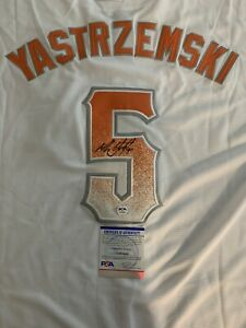 Mike Yastrzemski Signed Custom San Francisco Giants City Connect Jersey PSA/DNA