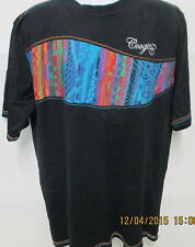 COOGI Black S/S Shirt, Nice Flowing Design on Front, XXL, Looks Brand New