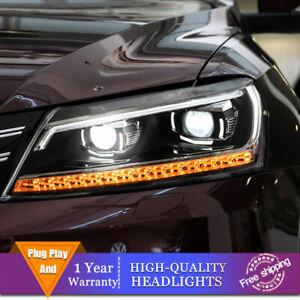 For Volkswagen Passat Headlight Double Lens Beam Projector HID LED DRL 2012-2015