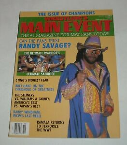 1992 WRESTLING's MAIN EVENT WRESTLING MAGAZINE RANDY SAVAGE ULTIMATE WARRIOR