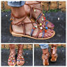 Womens Summer Sandals Ankle Strap Flat Flip-Flops Casual Beach Shoes Flats Boho