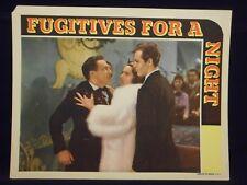 Allan Lane Fugitives For A Night 1938 Lobby Card Fine Mystery