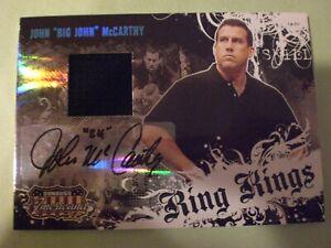 John McCarthy 1st Auto RC 2008 DONRUSS RING KINGS 474/500 UFC AUTOGRAPH